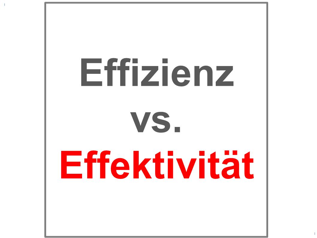 effizienz effektivität